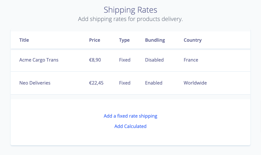 Shipping couriers