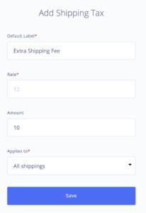 Shipping Taxes
